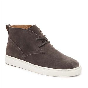 Lucky Brand Gray Suede Mid Top Sneakers
